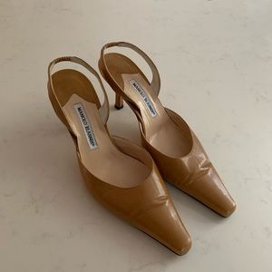 Manolo Blahnik open sling back shoe